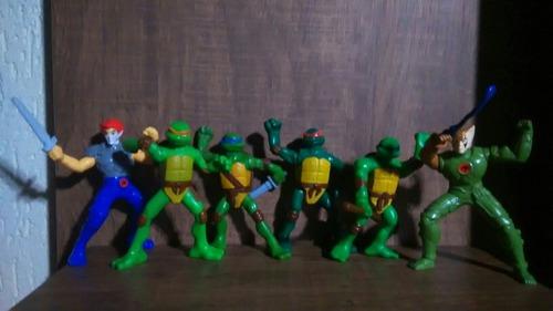 6 Bonecos 4 Tartarugas Ninjas +2 Thundercats Na Condição
