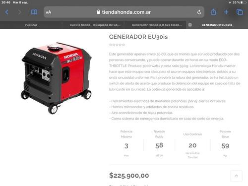 Generador Honda Eu30 Hondalomas