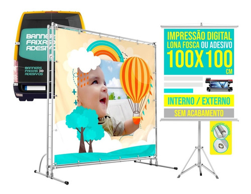 Banner Personalizado, Faixa, Lona, Adesivo, Imp Digital, M²