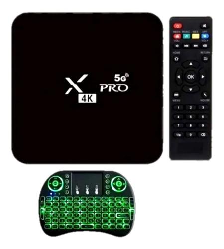 Smart Tv Box Pro 4gb Ram 32gb + Mini Teclado Led