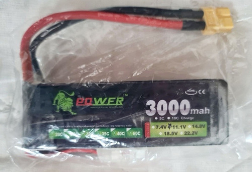 Bateria Lion 11.1v 3000mah 25c Max 50c Plug Xt60 T Drone