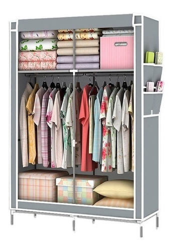 Large Portable Closet Stamped Cover Gray R87