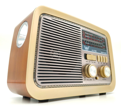 Rádio Retro Vintage Estilo Antigo Usb Bluetooth Fm Am Bivolt