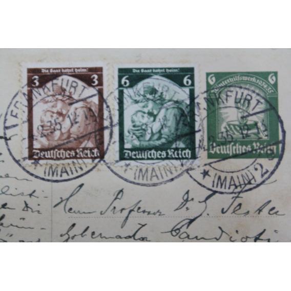 Deutsches Reich Postal Frankfurt Michel# 565y566 * 4feb1935