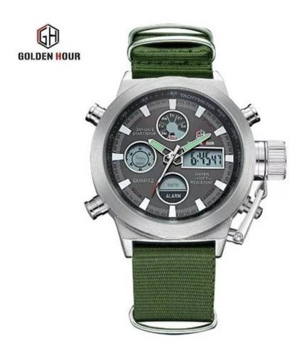 Relógio Militar Goldenhour - Pronta Entrega No Brasil