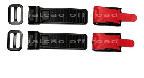 Fecho Rápido Engate Micrométrico Para Capacete (02 Unidades)