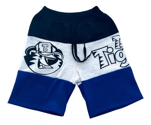 Kit De 5 Bermuda Moletom Infantil Masculina Short Algodão
