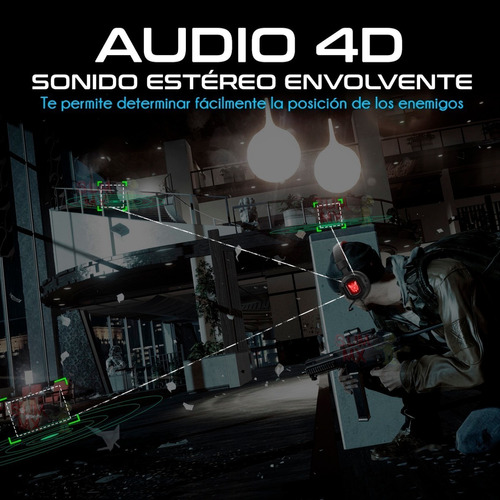 Audifonos Gamer Onikuma K3 Rgb Ps4 Xbox One S, 3.5mm Pc Lap - Ecart