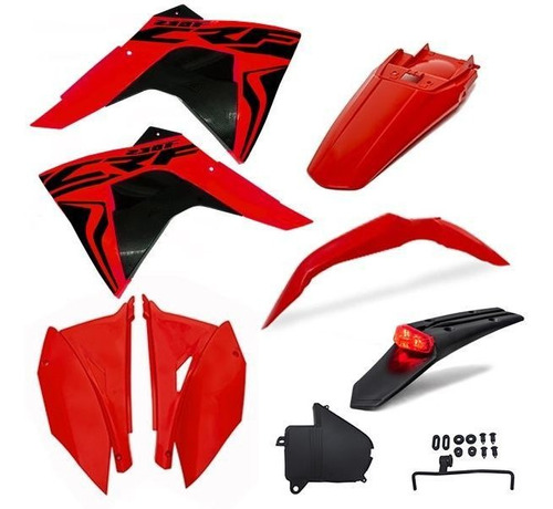 Kit Plástico Roupal Amx Premium Crf 230 Lanterna Traseira