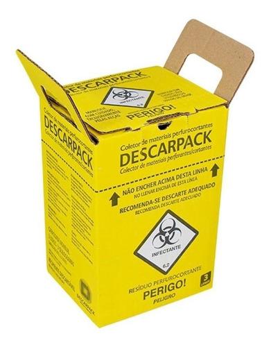 Caixa Coletora Para Material Perfurocortante 3lt Descarpack