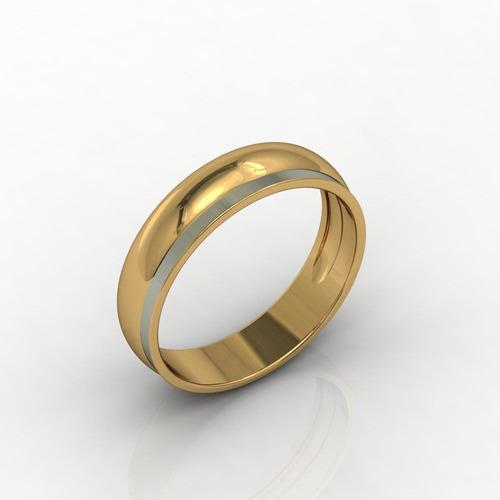 Aliança De Casamento Ouro Amarelo Amore Che Brilla