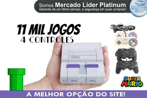 Super Nintendo Mini 11 Mil Jogos 4 Controles.