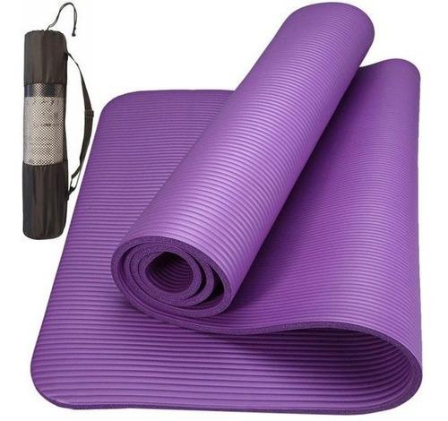 Tapete Yoga Tpe Mat Pilates Ginástica 173x61x0,8cm Com Bolsa