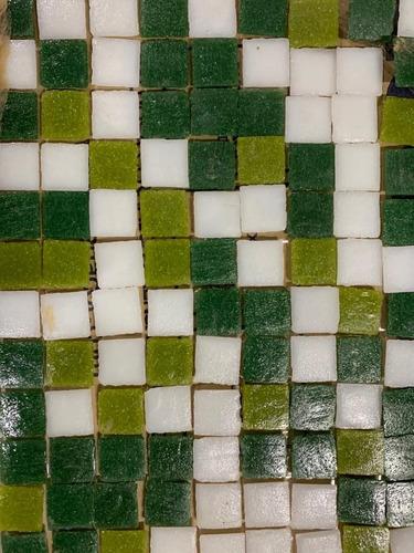 Venecita Murvi Mosaico Veneciano Degrade Circe Verde Blanco