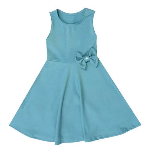 Vestido Infantil Verão Regata E Laço Moda Kids