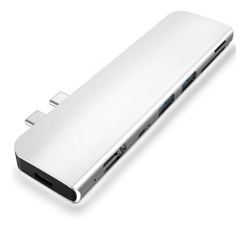 Hub Adaptador 7 Em 1 Usb-c 3.1 Hdmi 4k Thunderbolt Macbook