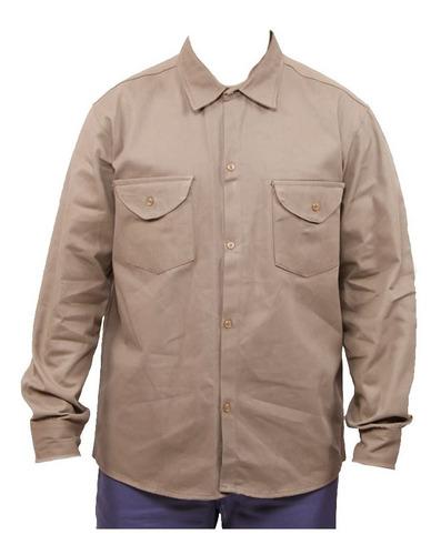 Camisa De Grafa Beige