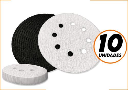 Kit 10 Un. Disco De Lixa Velcro Pluma 125mm Grãos Starfer