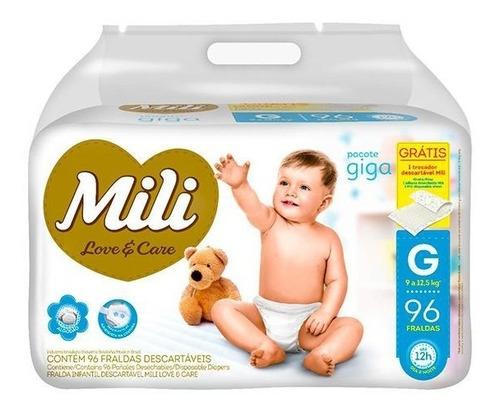 Fralda Infantil Love Care Giga G 96 Unidades