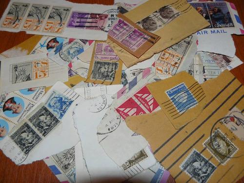 Lote De Estampillas En Fragmento De Estados Unidos - Usa
