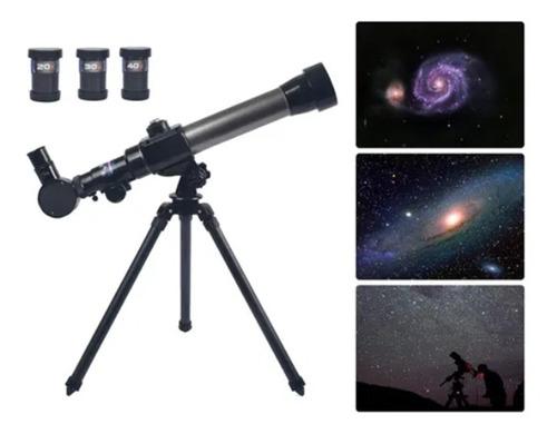 Brinquedo Educativo Para Crianças Telescópio Astronômico 40x
