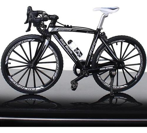 Miniatura Bicicleta Bike Speed Ciclismo 1:10 Metal Preto