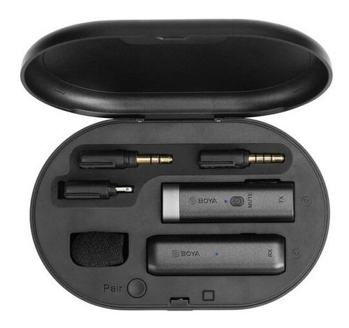 Microfone Boya By wm3d P/ iPhone Câmeras Smartphone Laptops