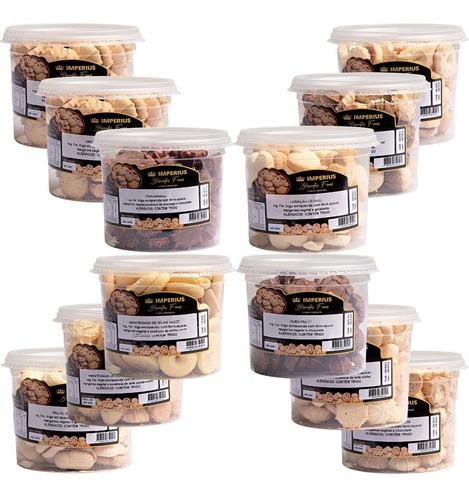 12 Potes De Biscoitos Amanteigados Mineira Atacado Revenda