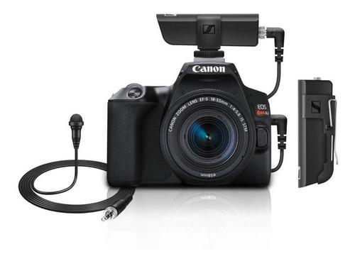 Kit Câmera Canon Sl3 4k Com Lente 18 55mm Microfone Lapela