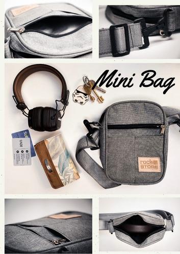 Mini Bag Bolso Riñonera Unisex Impermeable Porta Celular Etc