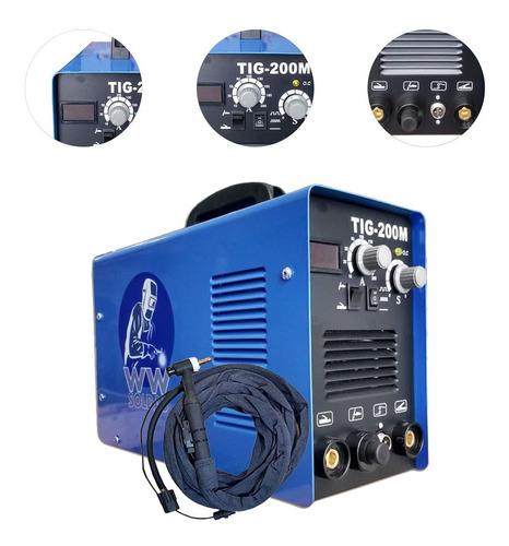 Máquina De Solda Inversora Tig 200a Pulsada E Alta Freq