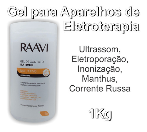Gel De Ultrassom 8 Ativos Raavi Celulite Gordura Localizada