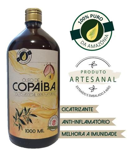 Óleo De Copaíba Da Amazônia 100% Puro / 1 Litro +  Brinde