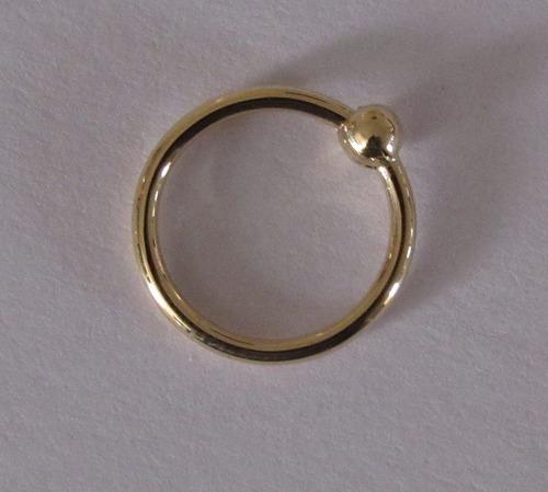Piercing Captive Bolinha Em Ouro 18k Original