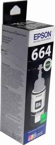 Tinta Epson T664 Negro Original T664120 L200 L355 L395 L455