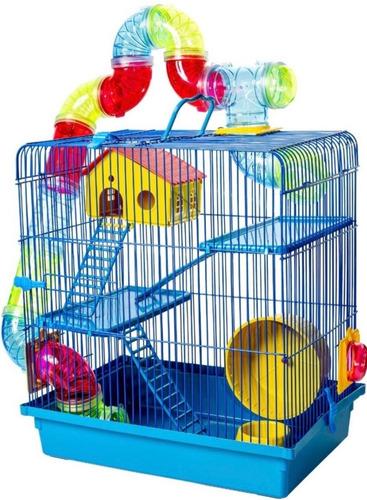 Gaiola Hamster 3 Andares Luxo Tubo Labirinto