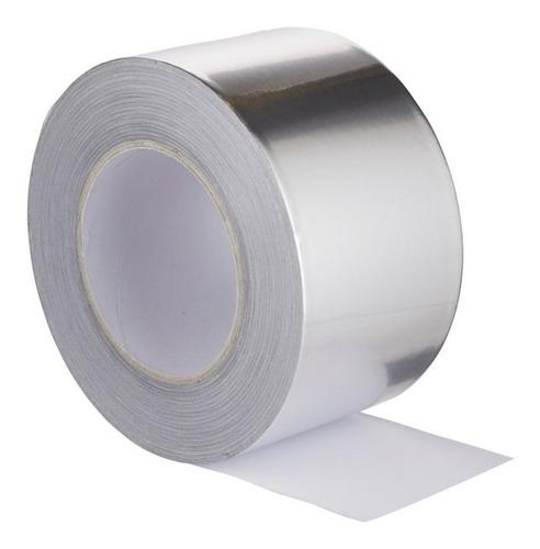 Cinta Aluminio Puro Adhesiva 50mm X 50mt Alta Calidad