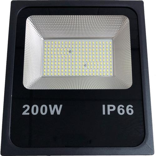 Refletor Led 200w Holofote Bivolt Branco Frio Prova D Agua Luz Smd Lampada Luminaria Led Iluminação Placa Super Led Novo
