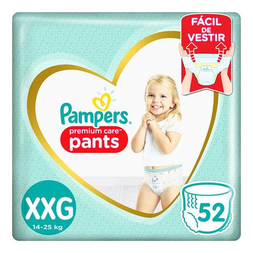 Pañales Pampers Premium Care Pants  Xxg 52u