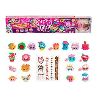Shopkins Wild Style Mega Pack 20 Figuras Stickers