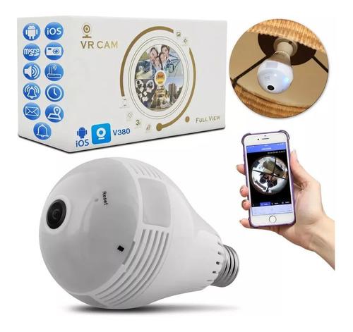 Lampada Espiã Camera De Segurança V360 Wifi Vrcam C/ Microf