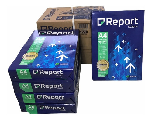 Caixa De Papel Sulfite A4 2500 Folhas Report Premium 75g