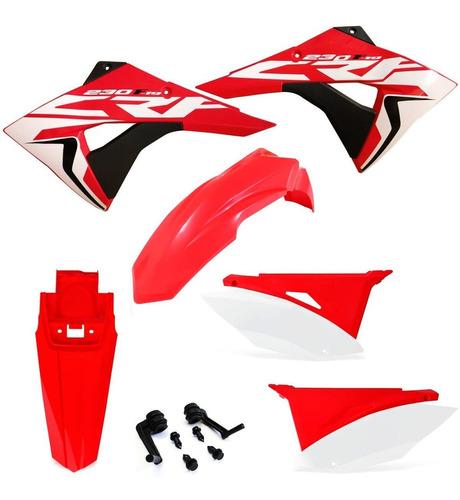 Kit Plástico Completo Next Crf 230 E Adesivos Roupa Biker
