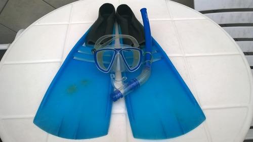 Kit De Mergulho, Nadadeira Cobra Flash 41, Máscara E Snorkel