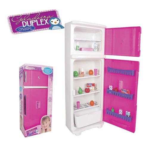 Geladeira De Brinquedo Infantil Grande Duplex 65cm Oferta
