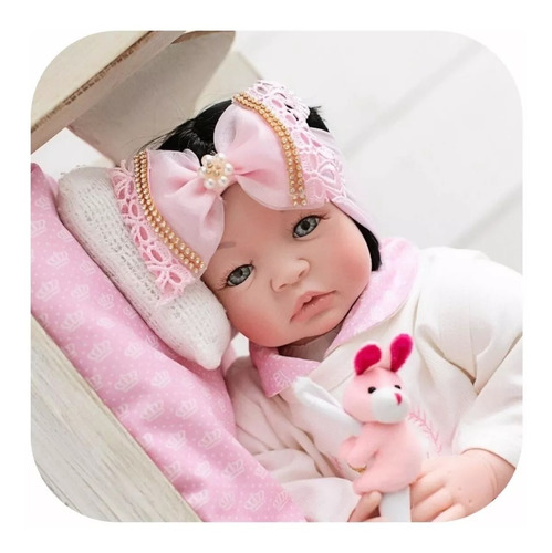 Bebê Reborn Real Realista Verdade Barata Princesa + Bolsa