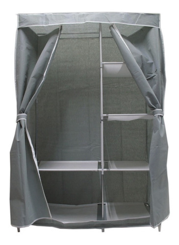 Large Portable Armor Closet Gray Printed Case R07 - Ecart
