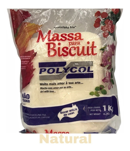 Kit Massa De Biscuit Natural Polycol 1 Kg