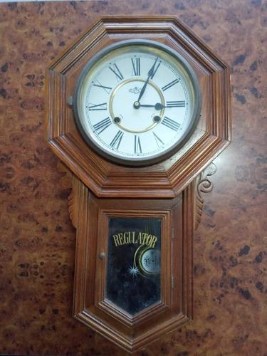 Relógio De Corda Ansonia Parede Regulator Colecionador