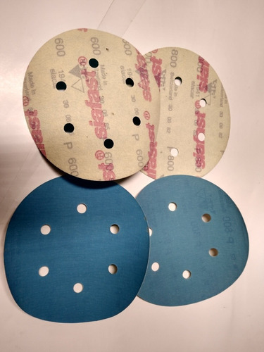 Discos De Lijas Hokies Grano 600 800 Velcro